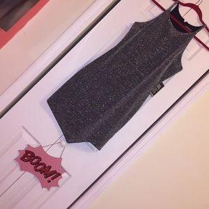 Express Metallic Sparkle mini dress